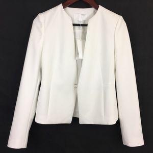 DAMAGED Hugo Boss Jisula Ponte White Blazer Jacket